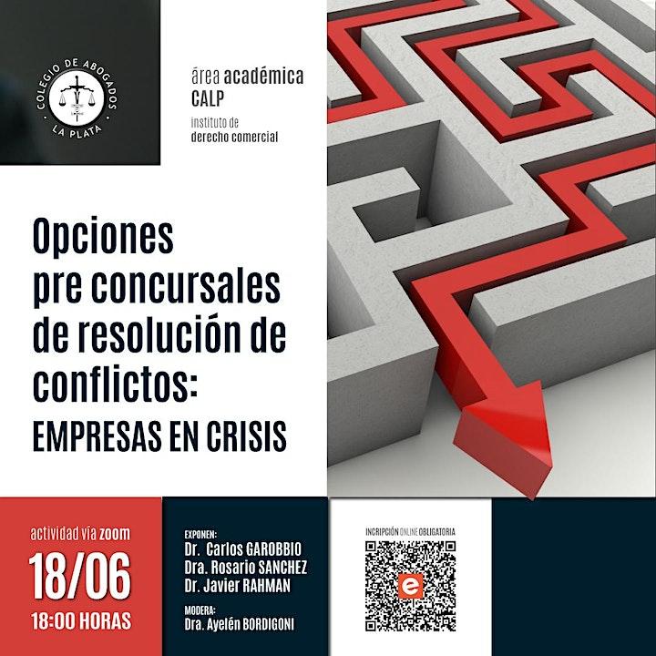 Imagen de Opciones pre concursales de resolución de conflictos : empresas en crisis