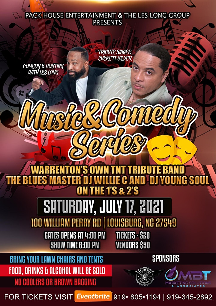 LIVE MUSIC & COMEDY SERIES | THE BEST OF BLUES, R & B AND SOUL MUSIC image