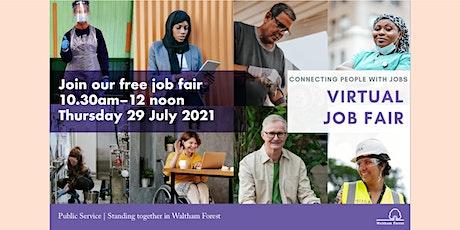 Free Virtual Job Fair: July 2021 (Waltham Forest) tickets