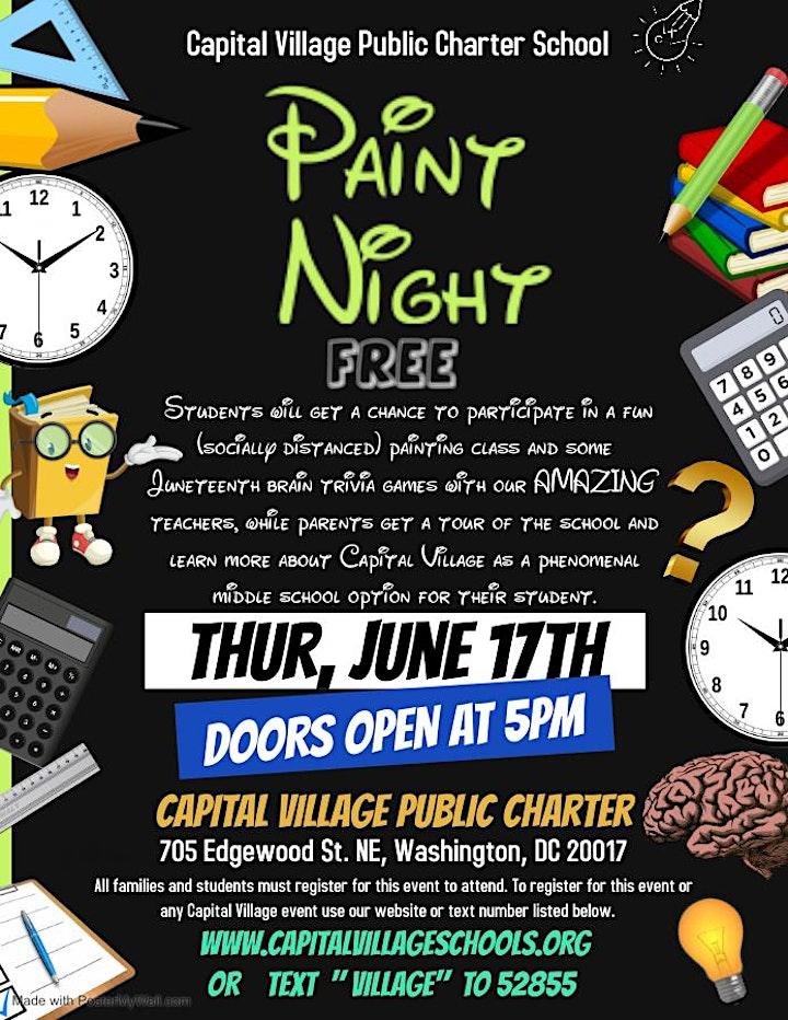 PAINT NIGHT OPEN HOUSE @ CAPITAL VILLAGE PCS image