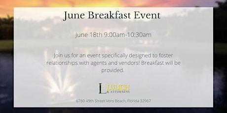 June Real Estate Breakfast Event tickets