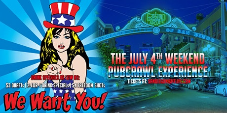San Diego Fourth of July Pub Crawl Sunday tickets