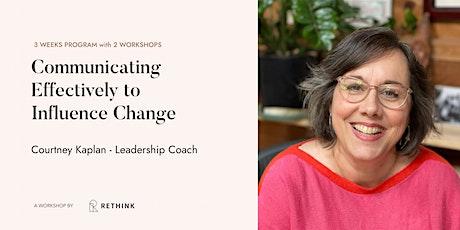 Strategic Communication to Influence Change tickets