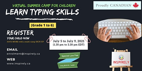 Virtual Summer Camp   Learn Typing Skills   For Children grade 1 to 6 tickets