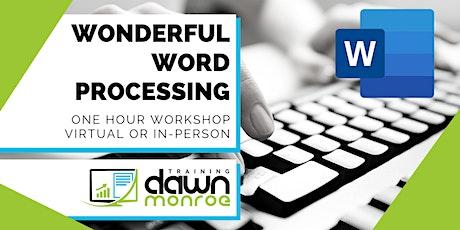 Wonderful Word Processing biglietti