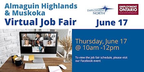 Almaguin Highlands & Muskoka Virtual Job Fair tickets