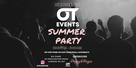 OT Events Summer Party (Post Lockdown Special) tickets
