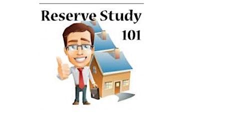 Association Reserve Studies & Accounts Explained tickets