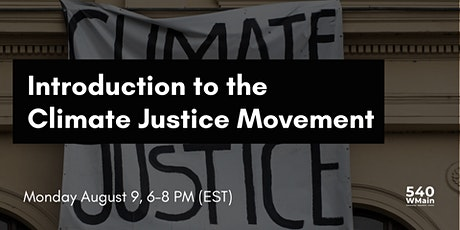 Introduction to Climate Justice Movement tickets