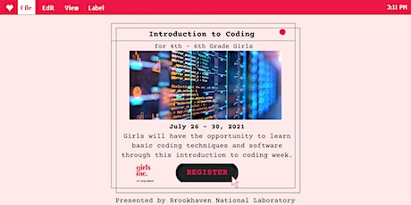 Introduction to Coding for 4th-6th Grade Girls | Girls Inc. of Long Island Tickets