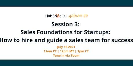 Hubspot x Galvanize: Sales Foundations for Startups tickets