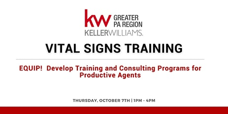 Vital Signs Training:  EQUIP tickets