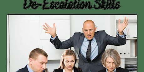 De-escalation Skills tickets