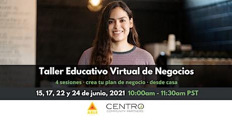 Taller Educativo Virtual de Negocios boletos