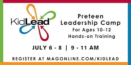 Kidlead Preteen Leadership Camp tickets