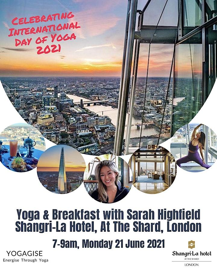 Yoga & Breakfast w/ Sarah Highfield, Shangri-La Hotel, At The Shard, London image