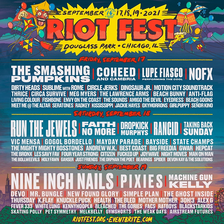 RIOT FEST 2021 I 3-DAY PASS image