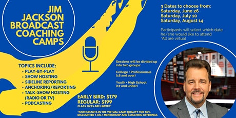 Jim Jackson Broadcasting Camp COLLEGE/PROFESSIONALS SESSION tickets