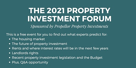 The 2021 Property Investment Forum tickets