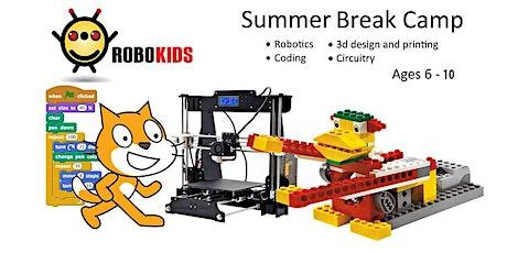 STEM Summer Camp, Cool, Fun, Explore. week7  JUL 26-JUL 30  Age  6-10 tickets