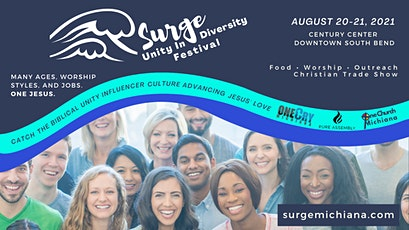 Surge. Unity In Diversity Festival. Many Worship Styles. One Jesus. tickets