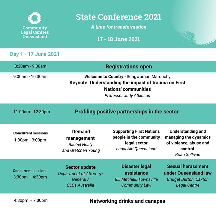 Community Legal Centres Queensland (CLCQ) State Conference 2021 image