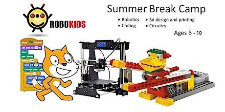 JR Summer Camp  Week6  Robotics & 3D + Stop Motion & Circuit AUG 3-AUG 6 tickets