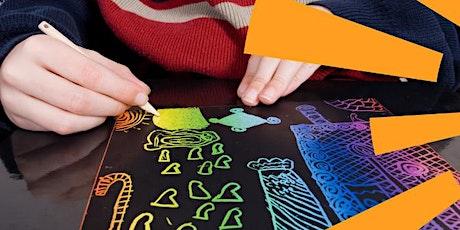School Holiday Activity - Animal Scratch Board Art tickets