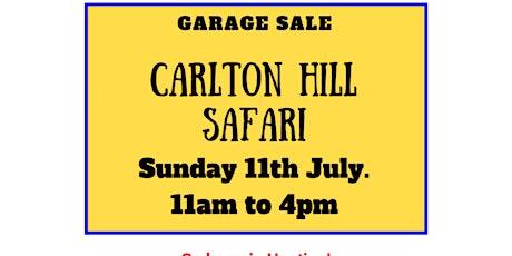 Carlton Hill Garage Sale Safari tickets