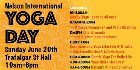 Nelson International Day of Yoga tickets