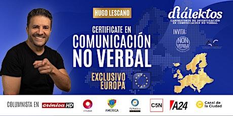 EUROPA / Certificación en Comunicación No Verbal con Coaching Dialéctico entradas