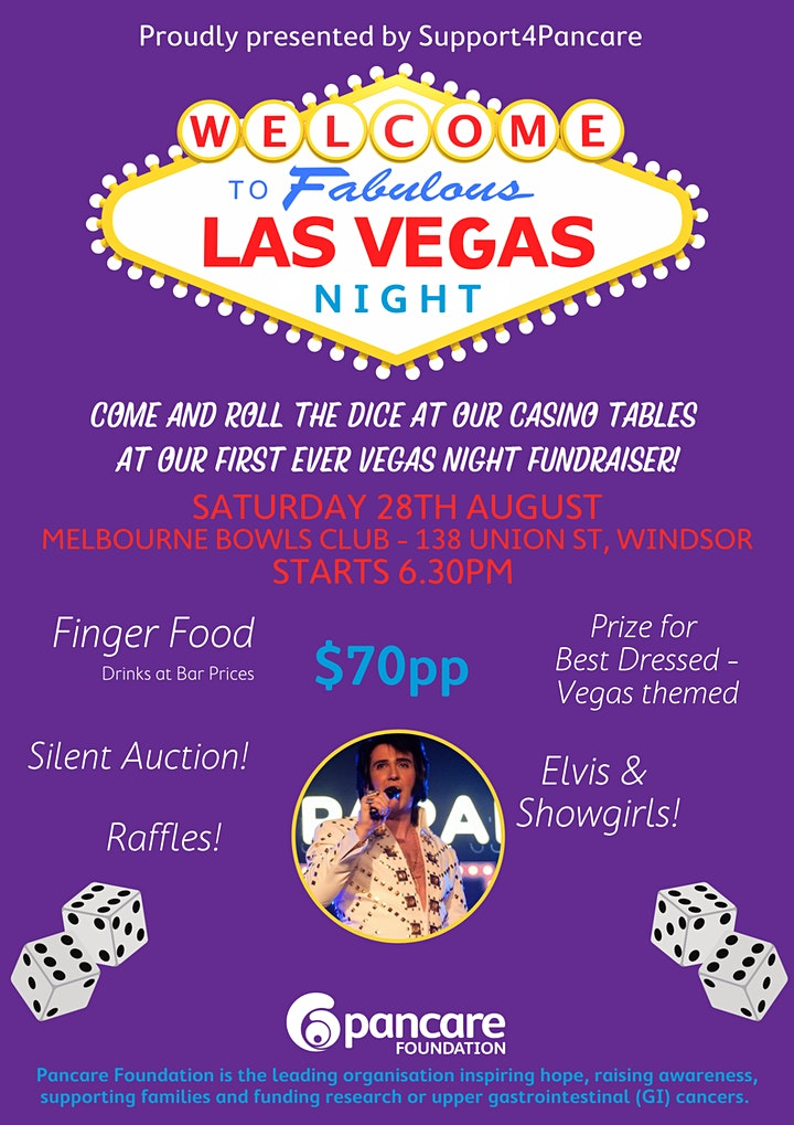 Las Vegas Night Fundraiser   Proudly hosted by Support4Pancare image