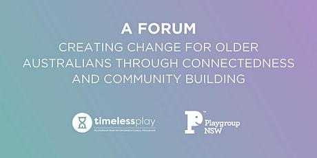 Forum: Creating Change for Older Australians tickets