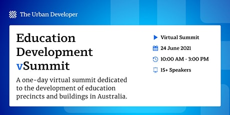 The Urban Developer Education Development vSummit tickets