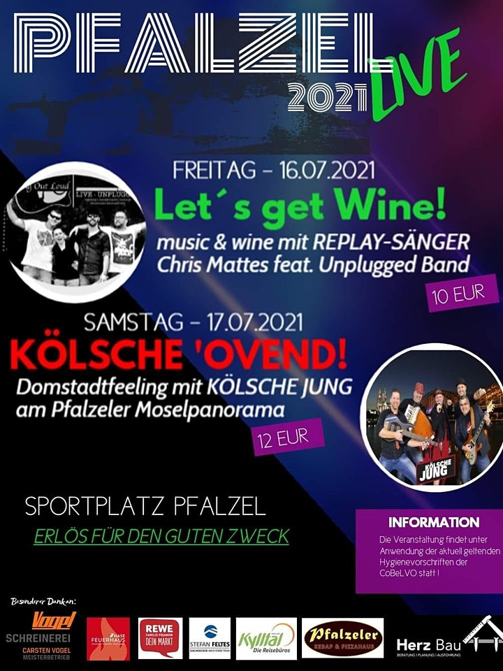LET´S GET WINE  2.0  mit Sing Out  Loud / 23.06.2021 @ Pfalzel Live 2021: Bild