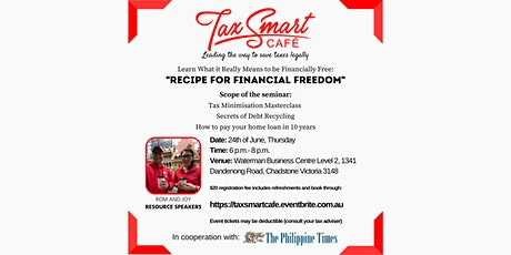"""""""Recipe for Financial Freedom"""" @ Waterman Business Centre Chadstone tickets"""