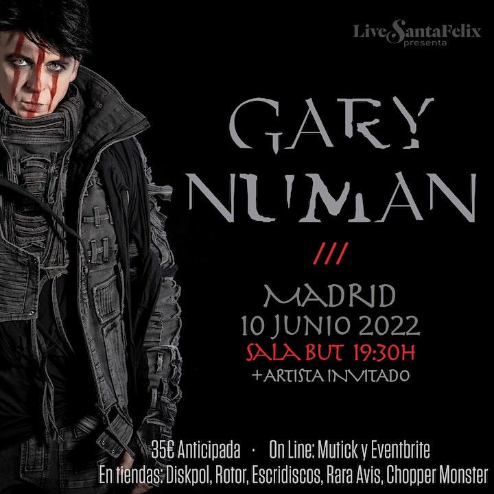 Imagen de Gary Numan en concierto en Madrid