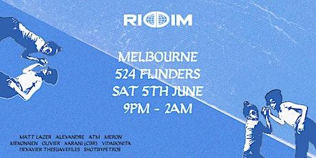RIDDIM: MELBOURNE tickets