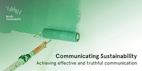 Communicating Sustainability – Effective and truthful communication tickets