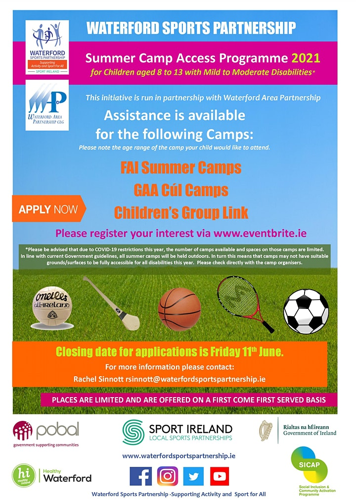 Waterford Summer Camp Access Programme- Expression of Interest image
