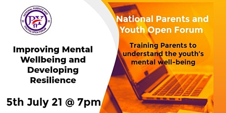 Improving Mental Wellbeing and Developing Resilience tickets
