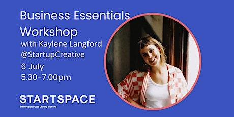 Business Essentials Workshop with Kaylene Langford tickets