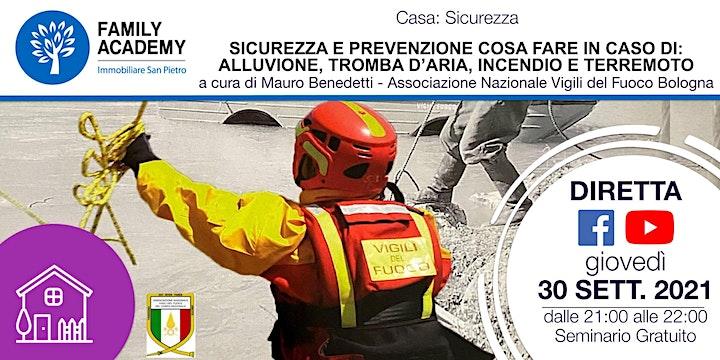 Immagine SICUREZZA: COSA FARE IN CASO DI ALLUVIONE-TROMBA D'ARIA-INCENDIO-TERREMOTO