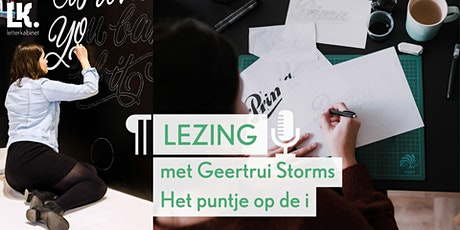 'Het puntje op de i' lezing met Geertrui Storms tickets