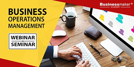 Live Webinar: Business Operations Management tickets