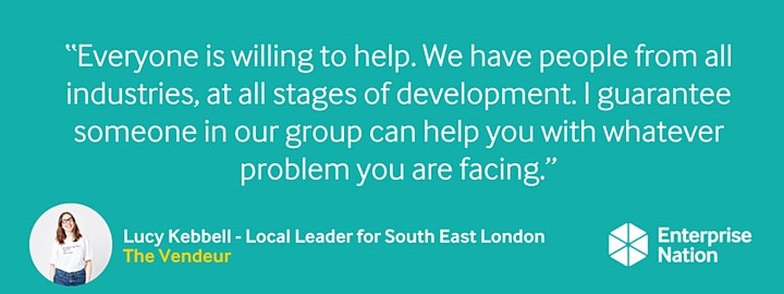 Online small business meet-up: South East London image