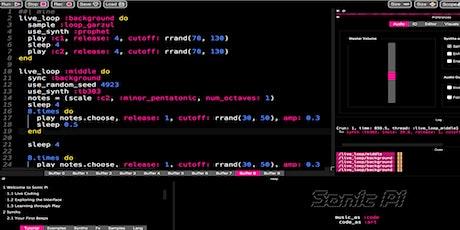 Workshop @ roBOt Festival: Livecoding e musica algoritmica con SonicPi biglietti