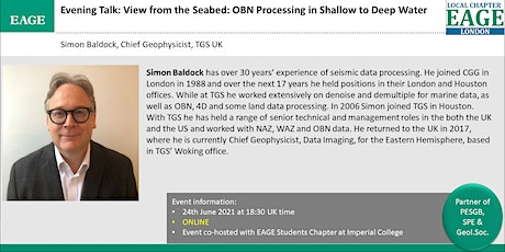 EAGE London: View from the Seabed: OBN Processing in Shallow to Deep Water tickets