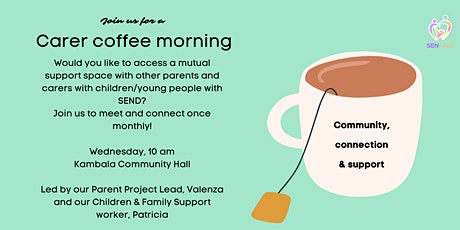 Welcome back! Face-to-face Coffee  Morning tickets