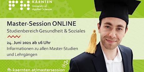 Master Session Online - Gesundheitsmanagement Tickets